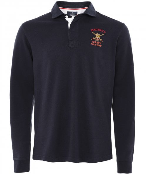 Hackett Classic Fit Army Rugby Shirt