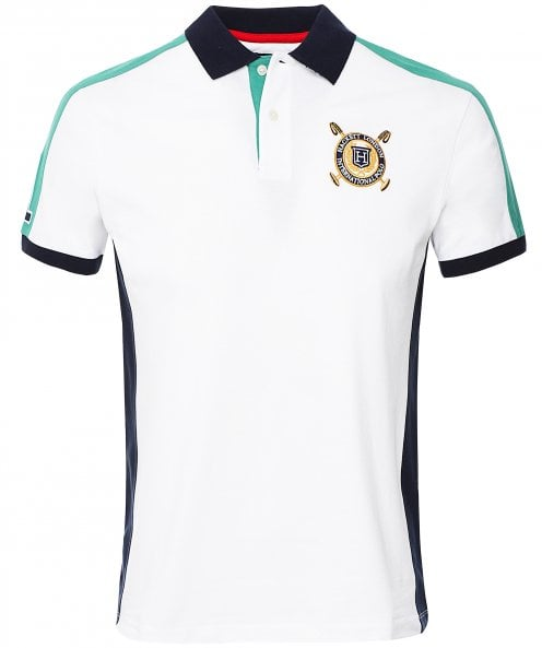 Hackett Classic Fit Multi Panel Polo Shirt