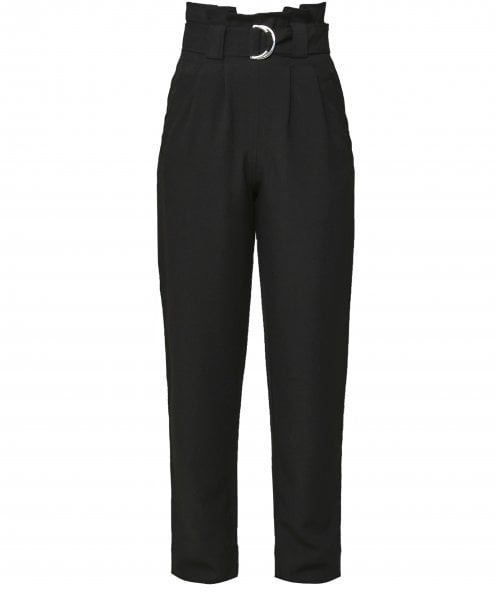 Ganni Heavy Crepe Belted Trousers