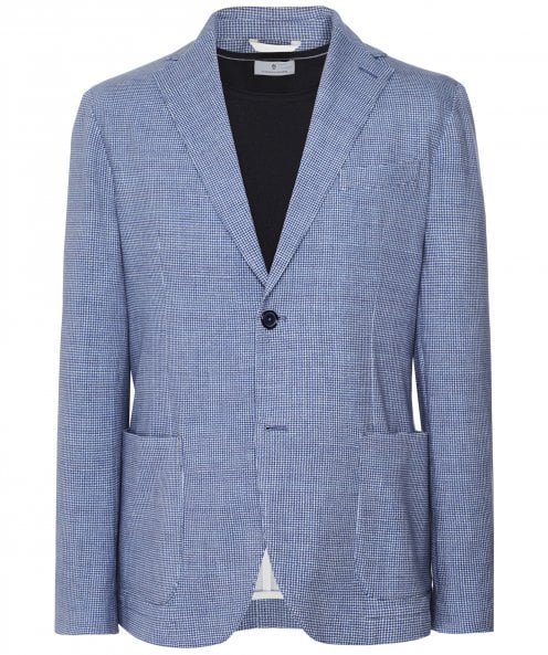 Circolo 1901 Stretch Cotton Fine Check Print Jacket