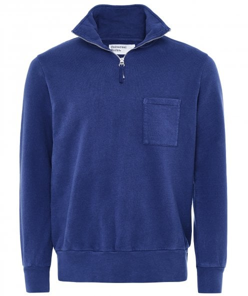 Universal Works Loopback Cotton Half-Zip Sweatshirt