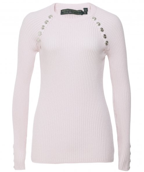 Holland Cooper Raglan Ribbed Button Jumper