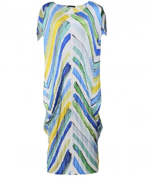 NU Pleated Chevron Dress