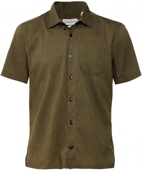 Oliver Spencer Relaxed Fit Short Sleeve Hawaiian Shirt