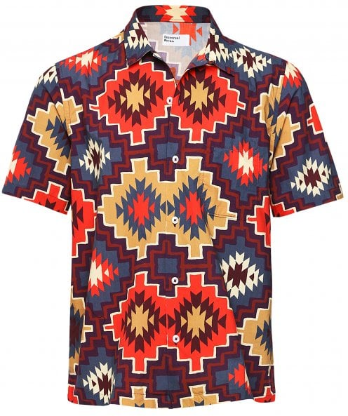 Universal Works Short Sleeve Santa Fe Road Shirt