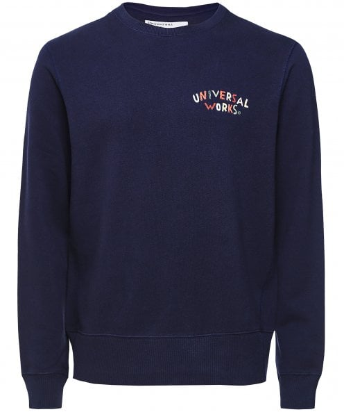 Universal Works Loopback Embroidered Logo Sweatshirt