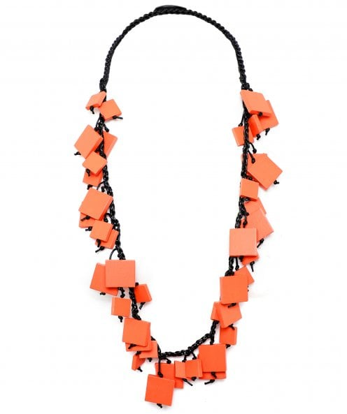 Jianhui Square Beaded Braid Necklace