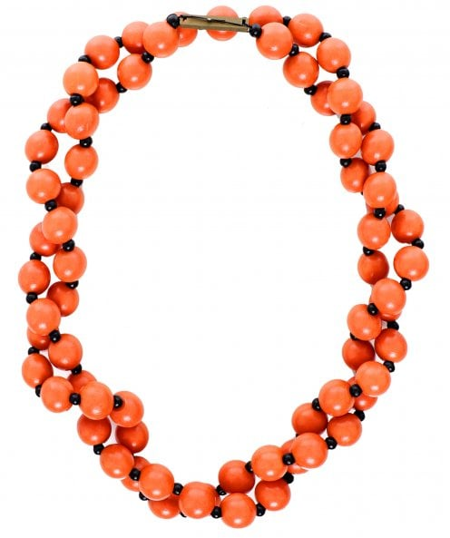 Jianhui Wooden Beaded Necklace