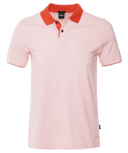 BOSS Slim Fit Striped Plater 11 Polo Shirt