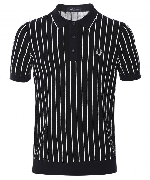 Fred Perry Stripe Knitted Shirt K8523 608