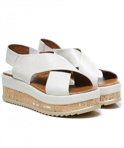 Inuovo Leather Crossover Slingback Sandals