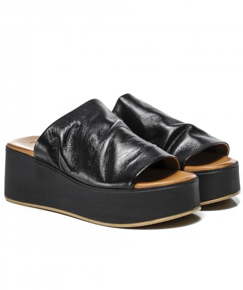Inuovo Leather Wedge Sliders