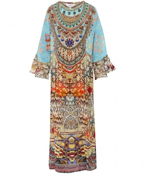Inoa Arizona Silk Frill Sleeve Kaftan