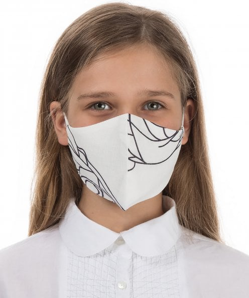 Grizas Children's Pack of 3 Printed Linen Protective Face Masks