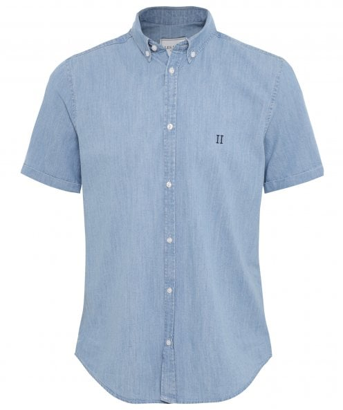 Les Deux Chambray Short Sleeve Vagrant Shirt