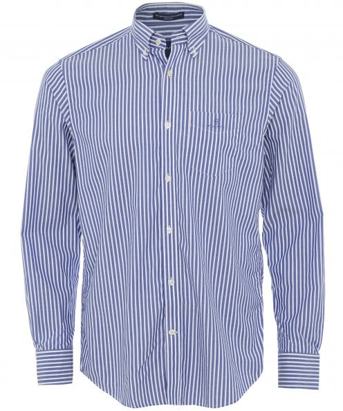 GANT Regular Fit Broadcloth Striped Shirt