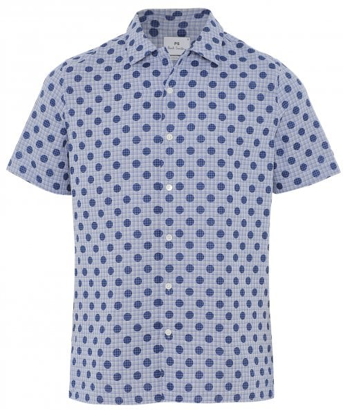 Paul Smith Casual Fit Short Sleeve Print Shirt