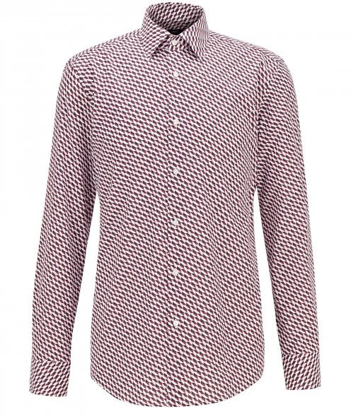 BOSS Slim Fit Geometric Print Jango Shirt