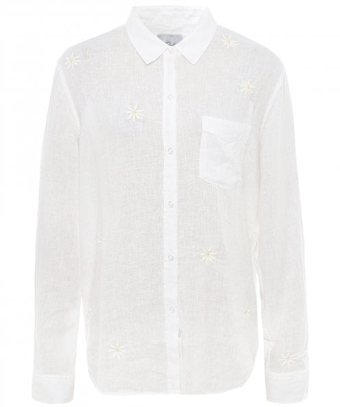 Rails Charli Embroidered Daisy Shirt