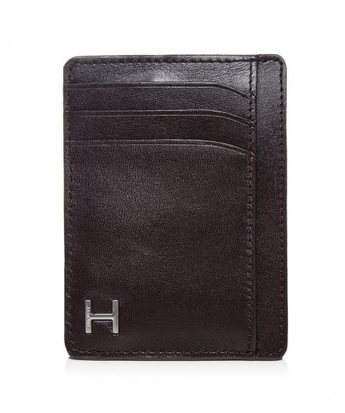 Hackett Leather Vertical H Card Holder
