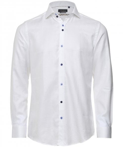 Guide London Slim Fit Herringbone Shirt