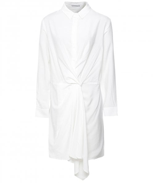 The Line Project Draped Front Shirt Dress