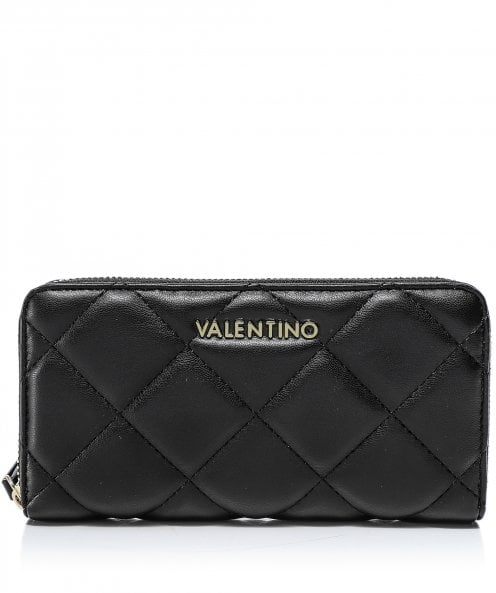 Valentino Bags Ocarina Quilted Zip Around Wallet