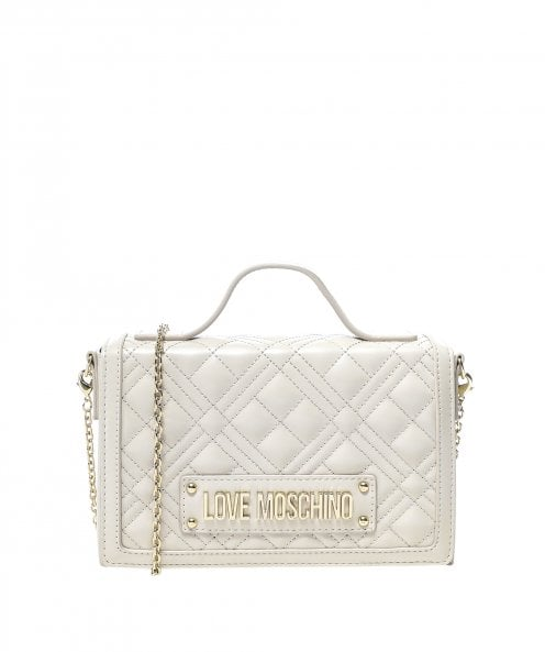 Love Moschino Quilted Crossbody Box Bag