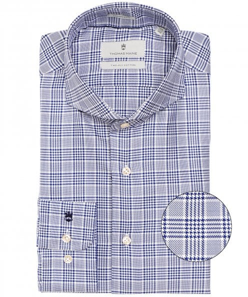 Thomas Maine Tailored Fit Prince of Wales Check Shirt