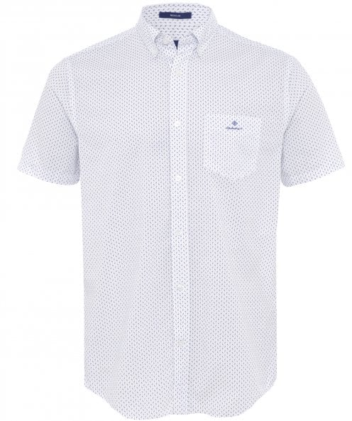 GANT Regular Fit Short Sleeve Print Shirt