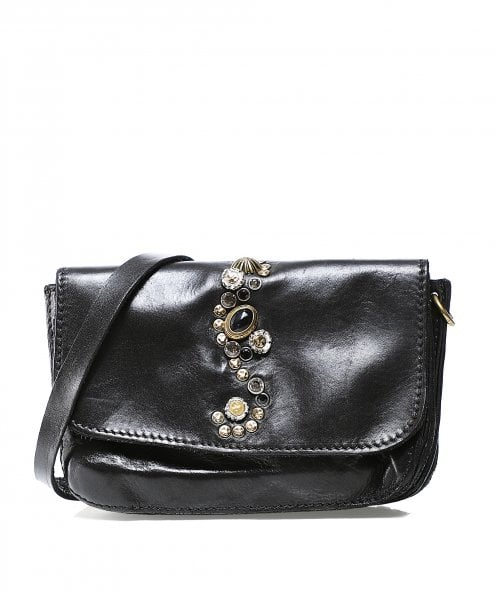 Campomaggi Small Studded Leather Crossbody Bag