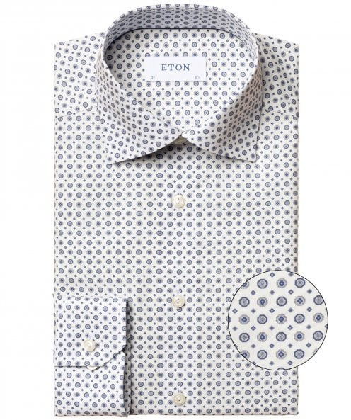 Eton Slim Fit Medallion Print Shirt