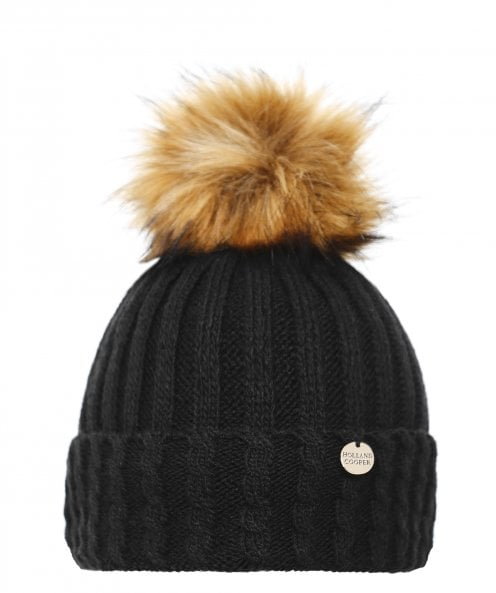 Holland Cooper Cable Knit Bobble Hat