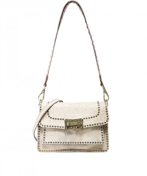 Campomaggi Agnese Waxed Leather Studded Crossbody Bag