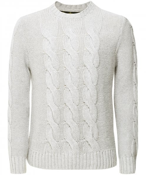 Barbour Cashmere Wool Cable Knit Lennox Jumper