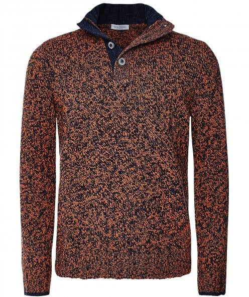 Gran Sasso Virgin Wool Half-Button Jumper