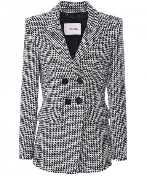 Dorothee Schumacher Houndstooth Check Double Breasted Blazer