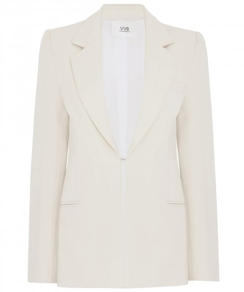 Victoria Beckham Pagoda Shoulder Tailored Jacket
