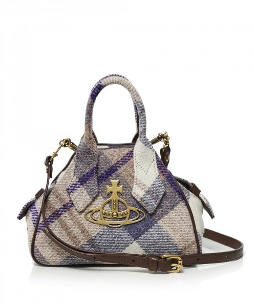 Vivienne Westwood Accessories Harris Yasmine Small Tartan Tote Bag
