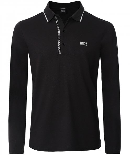 BOSS Slim Fit Long Sleeve Pleesy 4 Polo Shirt
