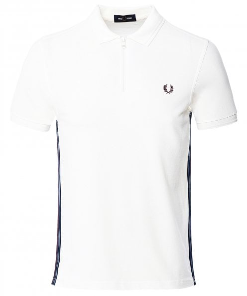 Fred Perry Taped Zip Neck Polo Shirt M9599