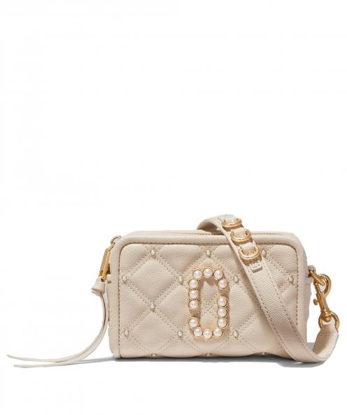 Marc Jacobs The Quilted Softshot 17 Leather Crossbody Bag