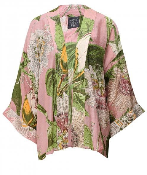 One Hundred Stars Kew Passion Flower Short Kimono