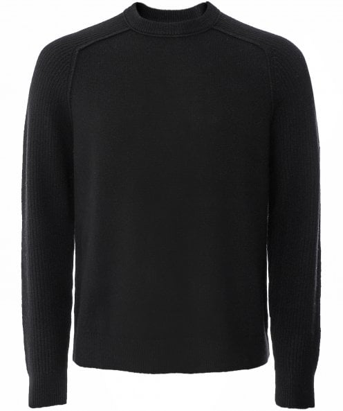 Barbour International Wool Rib Sleeve Jumper