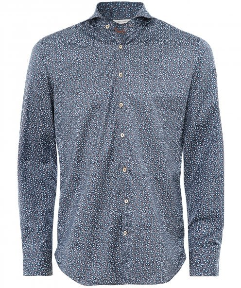 Stenstroms Fitted Body Geometric Floral Shirt