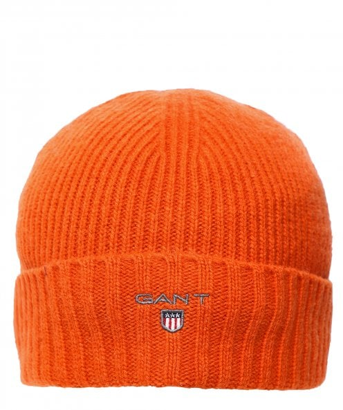 GANT Lambswool Ribbed Beanie