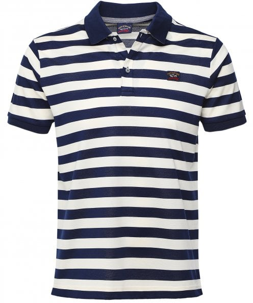 Paul and Shark Cotton Striped Polo Shirt