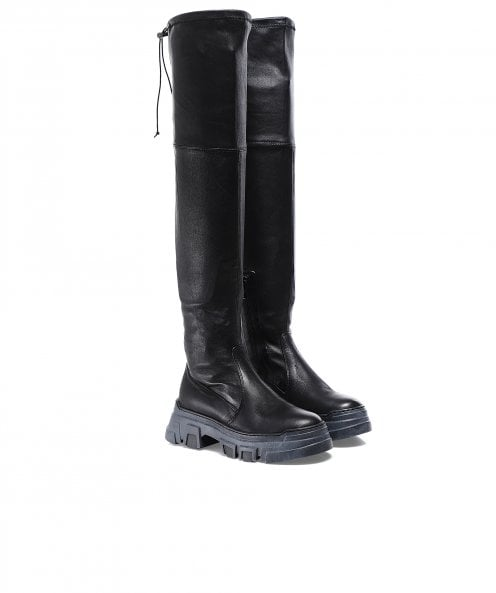 Lofina Leather Over The Knee Boots