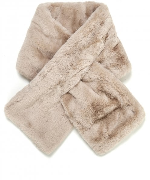 Rino and Pelle Stip Faux Fur Scarf