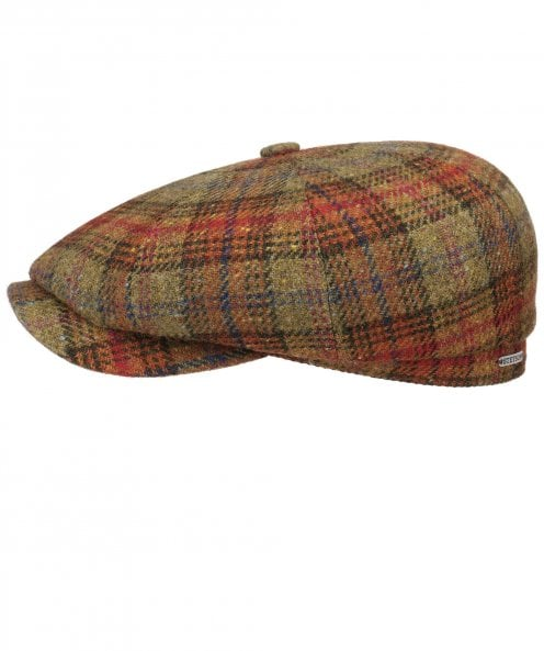 Stetson Lambswool Check Hatteras Cap